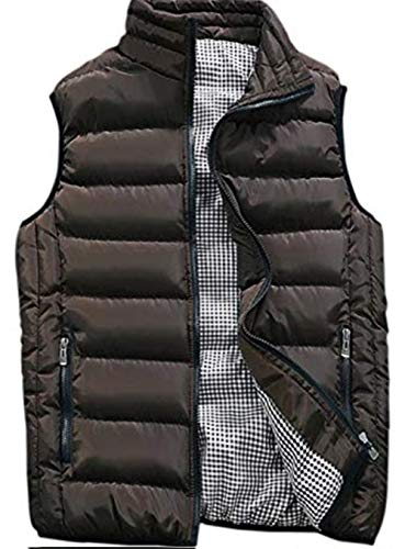 XinYangNi Men's Down Vest Winter Casual Work Sports Travel Outdoor Padded Puffer Pockets