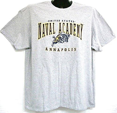 Universal Mascot T-shirt - United States Naval Academy Mascot Tee-Shirt (Grey, XXL)