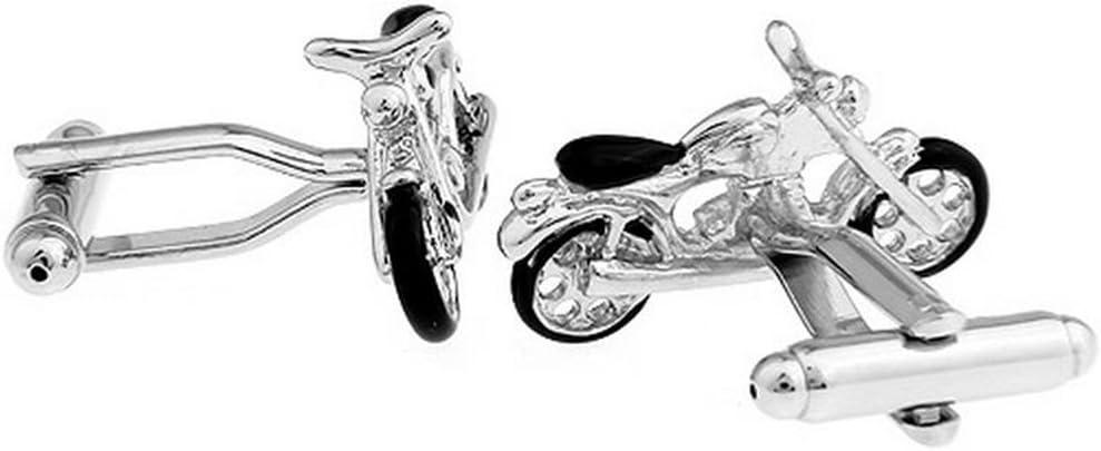 Fablcrew 2 Pi/èces Boutons de Manchette Hommes Bricolage Moto Boutons Le Cuivre Vintage pour Chemise Mariage Business D/écoration Accessoires