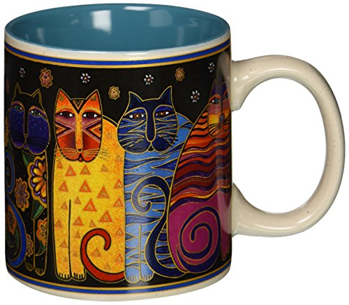 Laurel Burch Artistic Collection Mug, Feline Family Portrait, Multicolor