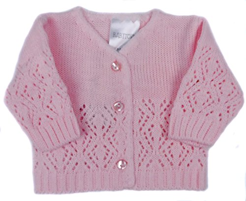 Prem Baby Early Baby Reborn Doll Cardigans Boy Girl White Pink Blue 3-5LB 5-8LB (5-8LB, Pink) Baby Doll Cardigan Clearance Sweaters Cardigans