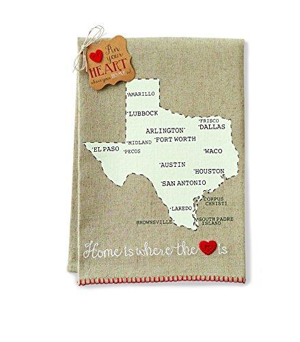 Mud Pie Texas Home Towel