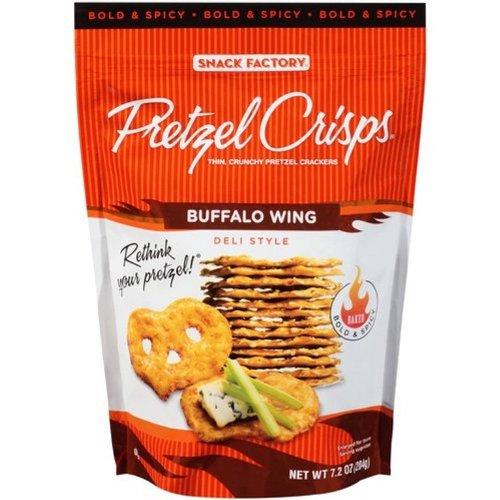 Pretzel Crisps Buffalo Wing Deli Style Pretzel Crackers, 7.2 Ounce