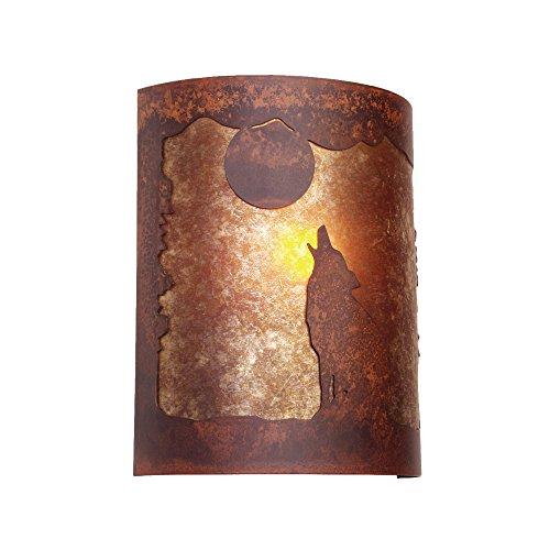 Ridge Handcrafted Lamp (Steel Partners Lighting Timber Ridge Sconce, Barking at The Moon)