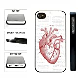 CorpCase SlimFit Snap On Case iPhone 4 4S Case - Anatomical Red Heart - For Teens Girls Women Fits All Carriers iPhone 4 iPhone 4S