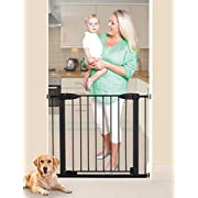 Dreambaby Boston Magnetic Auto Close Security Gate w/ Stay Open Feature (29.5 - 38 inches, Black)