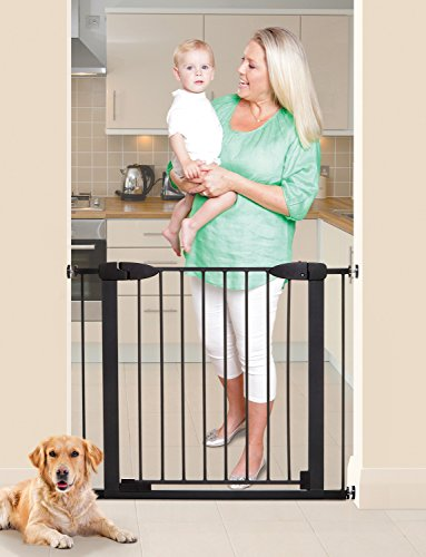 Dreambaby Boston Magnetic Auto Close Security Gate w/Stay Open Feature (29.5-38 inches, Black) For Sale