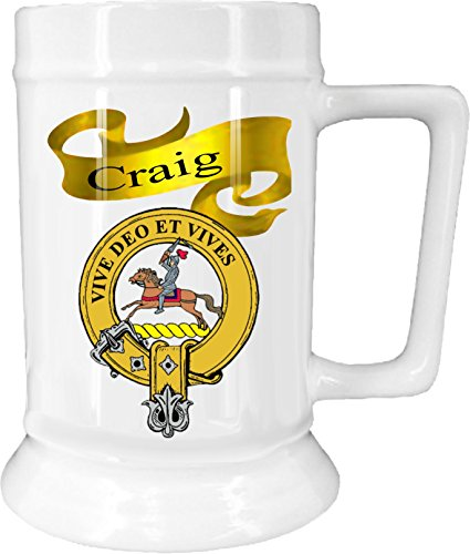 Beer Scottish (Scottish Clan Craig on New Ceramic Beer Stein)