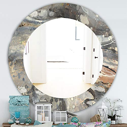 Designart 'Fire and Ice Minerals I' Farmhouse Mirror Framed Mirrors, Large Oval -