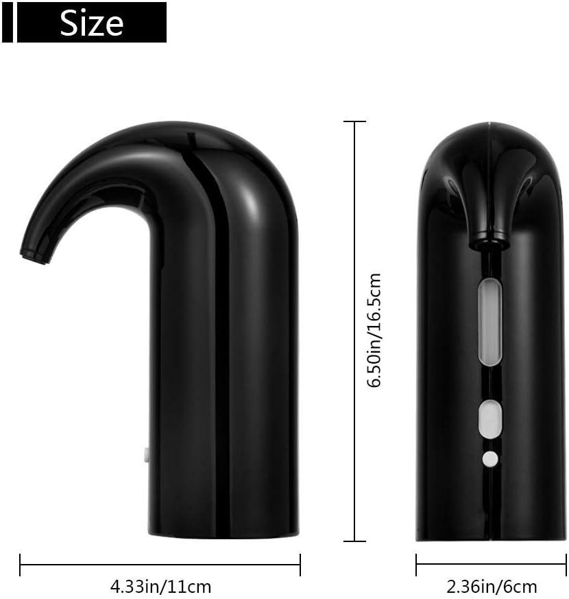 11.5 distributeur de vin instantan/é pompe /à d/écanter automatique rechargeable par USB pour vin rouge et blanc 16.5 6cm Noir A/érateur de vin /électrique