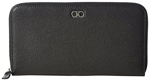 Icon Zip Around Wallet - Salvatore Ferragamo Salvatore Ferragamo Women's Gancio Zip Around 589022, black, One Size