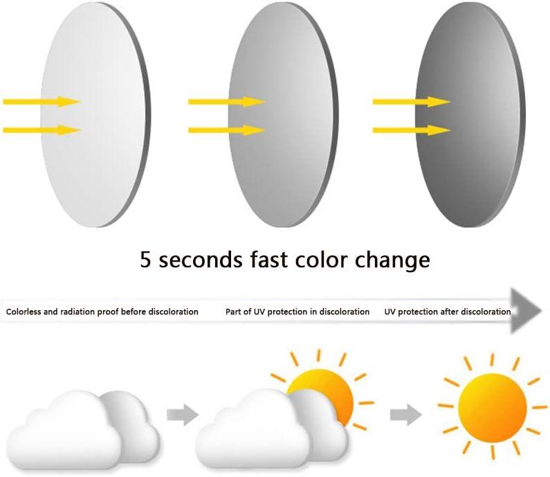 YUANP Lunettes De Lecture De Décoloration De L'hypermétropie pour Hommes Lunettes De Soleil D'extérieur à Lentille en Résine Asphérique,1-+250 2-+275