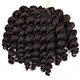 Silike JUMPY Wand Curl Crochet Hair (3 Pieces/Pack) Havana Mambo Crochet Braids Synthetic Hair For Women(4#)
