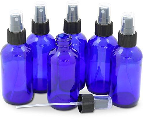 Simple Houseware 6PK 4oz Cobalt Blue Glass Bottles with Mist Sprayer