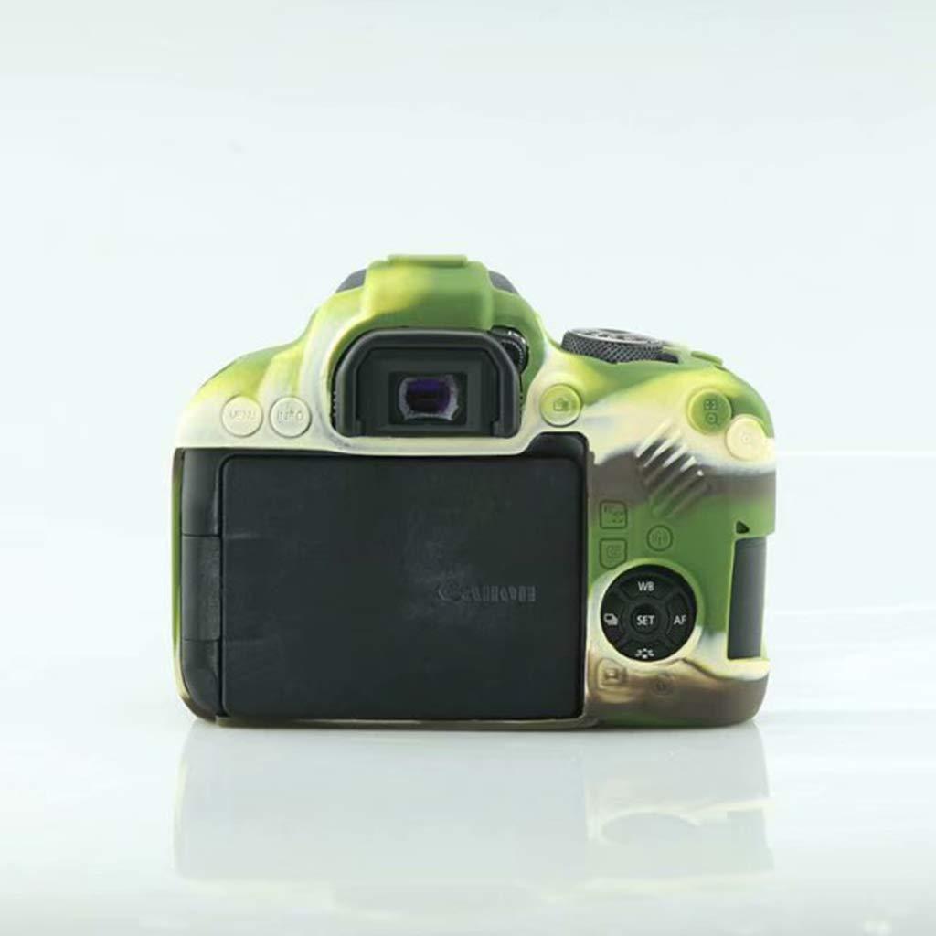 William-Lee Carcasa Protectora de Silicona antiara/ñazos Compatible con c/ámaras Canon EOS 800D 12x5x7cm//4.7x1.9x2.7in Army Green Silicona