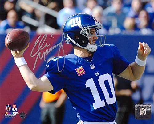 Eli Manning Autographed/Signed New York Giants NFL 8x10 Photo - 100th Win