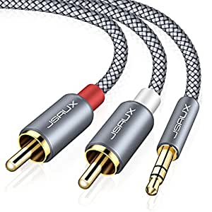 Amazon 35mm to rca cable jsaux 66ft 35mm male to 2 rca male 35mm to rca cable jsaux 66ft 35mm male to 2 rca male keyboard keysfo Choice Image