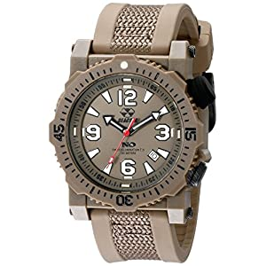 REACTOR Men's 43821 Titan Stainless Steel Watch with Brown Band