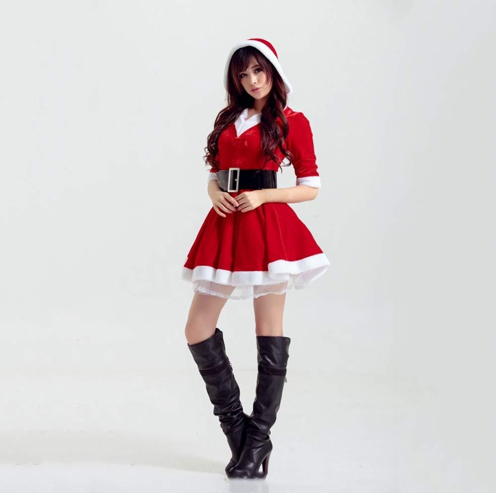Ambiguity Traje de Navidad, Ropa de Navidad Chica Sexy Traje de Fiesta Traje Bola de Maquillaje del Traje: Amazon.es: Hogar
