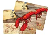 Kay Dee Designs Driftwood Lobster Cork-Backed Placemat, Set of 2