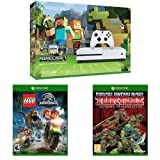 Xbox One S 500GB Console - Minecraft Bundle, LEGO Jurassic Park, and Teenage Mutant Ninja Turtles: Mutants in Manhattan