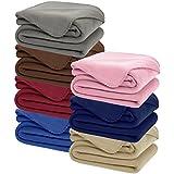 DOZZZ Super Soft Cozy Fleece Throw Blanket - 50x70 Fleece Blanket (Assorted Colors)
