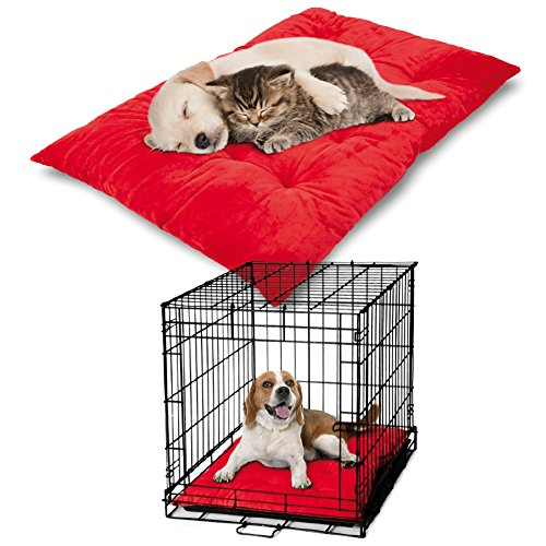 Luxury Dog Pillow (The PetLuv Premium Luxury Pet Pillow Bed & Crate Cushion Mat. Velveety Soft with 3 Full Inches of Stuffing)