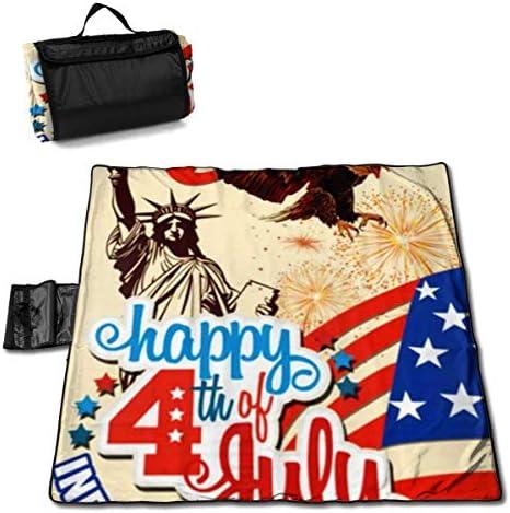 Suo Long Coperta da Picnic Quarta di luglio Festa dell'indipendenza Statua Liberty Picnic Mat Beach Blanket