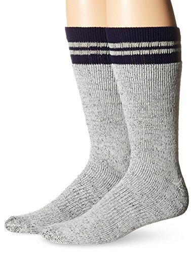 Dickies Men's 2 Pack Wool Blend Boot Crew, Grey/Navy, Shoe Size: 6-12 (Sock Size: 10-13)