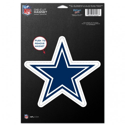 Dallas Cowboys Official NFL 6 inch x 9 inch Car Magnet by Wincraft 837189