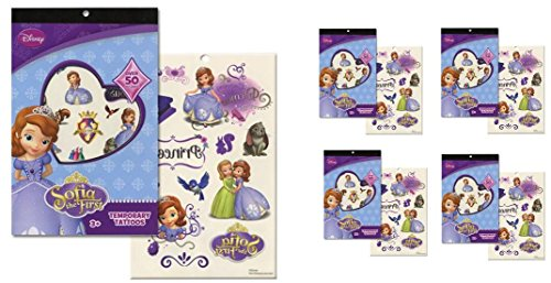 Sofia the First Tattoo Book x 4 (each book has 4 sheets over 50 tattoos)]()