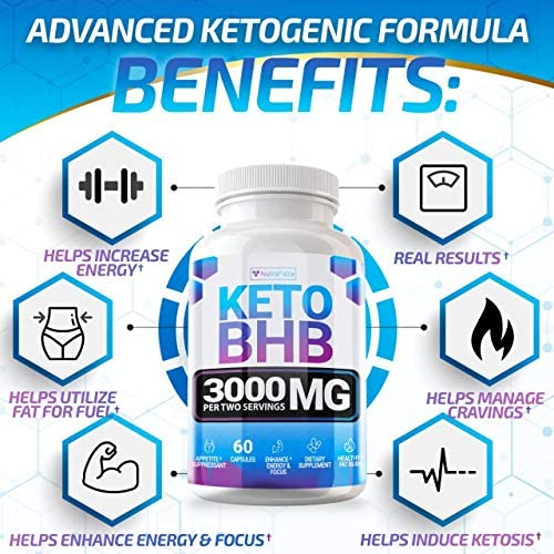 Keto Pills - (2 Pack | 120 Capsules) - 5X Potent - Advanced Keto Burn Diet Pills - Best Exogenous Ketones BHB Supplement for Women and Men - Boost Energy and Metabolism - 100% Vegan 3
