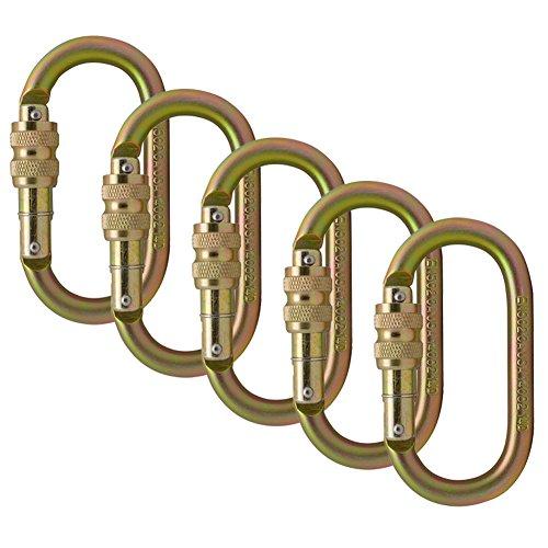 Best Screw Locks - Fusion Climb Ovatti Steel Screw-Lock Oval-Shaped