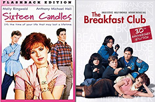 Sixteen Candles & The Breakfast Club... Flashback Fun Comedy 80's High School Teen movie Set Molly Ringwald Double - Collection Yearbook
