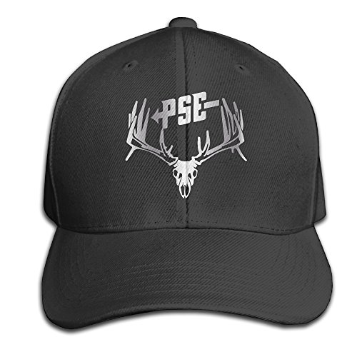 - Black PSE Bow Hunting Deer Buck S Platinum Men's Adjustable Peaked Baseball Caps