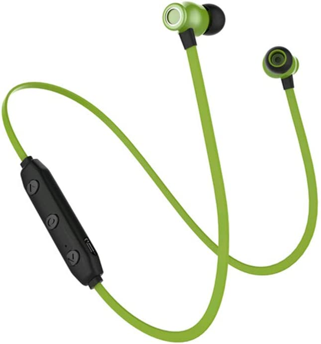 RONSHIN Headphones//Earphones//Earbuds X5 Magnetic Wireless Sports Bluetooth Headset in-Ear Ultra Long Standby Mini Bluetooth Headset red