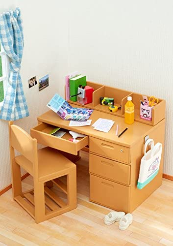 NO ANY STATIONERY INCLUDE Re-ment Miniature Student Study Desk /& Chair set