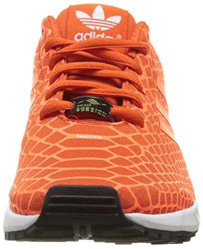 adidas ZX Flux Techfit - Zapatillas para hombre Orange (Collegiate Orange/Solar Orange/Ftwr White)