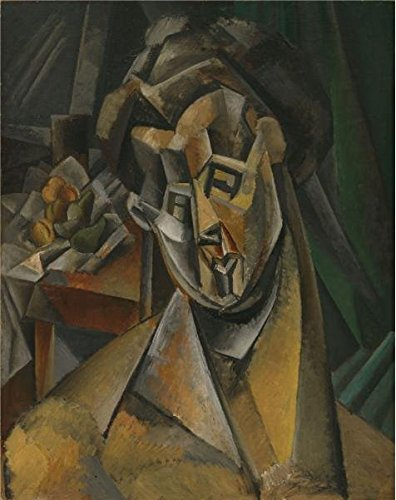 'Pablo Picasso-Woman With Pears,1909' Oil Painting, 30x38 Inch / 76x96 Cm ,printed On High Quality Polyster Canvas ,this Amazing Art Decorative Canvas Prints Is Perfectly Suitalbe For Bathroom Gallery Art And Home Gallery Art And Gifts