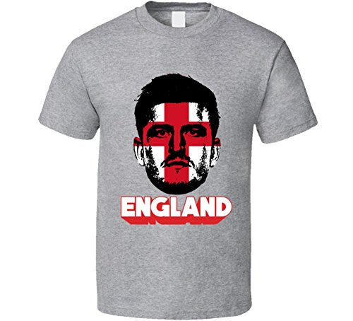 Harry Maguire England Flag Big Head Cool World Cup Fan T Shirt S Sport Grey