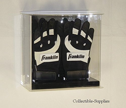 Batting Glove Case - New Double Baseball Batting Glove Wall Mountable Display Case
