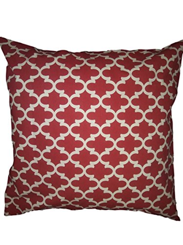 Euro pillow Sham Red trellis Pillow Cover. large bed Throw Pillow. Moroccan pattern Toss Pillows. square Cushion. Bed dorm. Pillow Cover. Pillow Sham 26