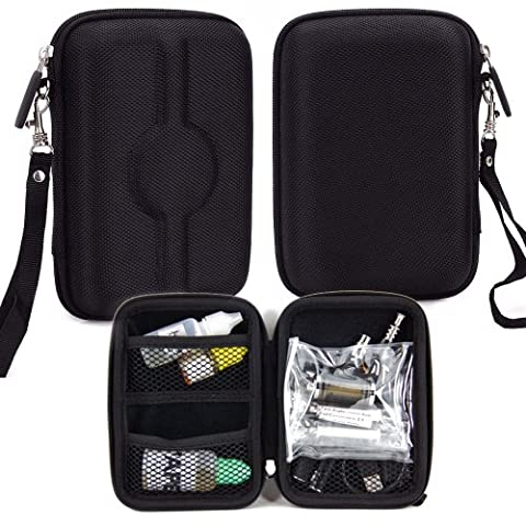 Carrying Travel Semi-Hard Case - Compatible with Cloupor Cloutank M3 Mod (Black Nylon) Universal (Mods Drip Tip)