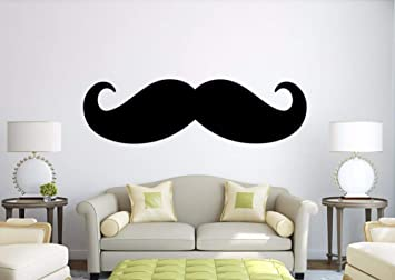 Dalxsh Gran tamaño bigote etiqueta de la pared dormitorio sofá ...
