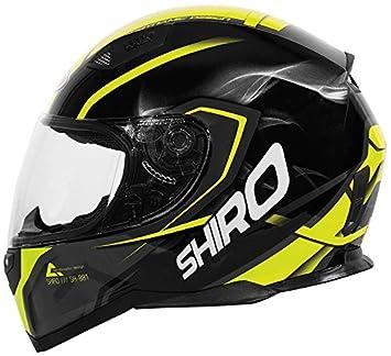 Shiro Casco Motegi, amarillo, talla XL