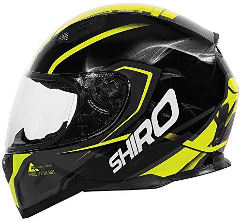 SHIRO Casco, Motegi giallo, taglia XXL Shiro Helmets SH881MOTBM