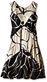 Tracy Reese Womens Floral Jacquard Fit and Flare Dress