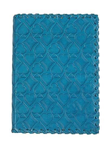 storeindya Handmade Genuine Leather Journal Eco-Friendly Unlined Pages Compact Travel Diary Writing Journal for Men Women (Poker Blue Collection) (On Writing A Memoir Of The Craft Audiobook)