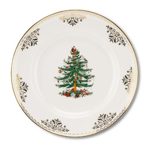 Spode Christmas Tree Gold Salad Plate, Set of 4