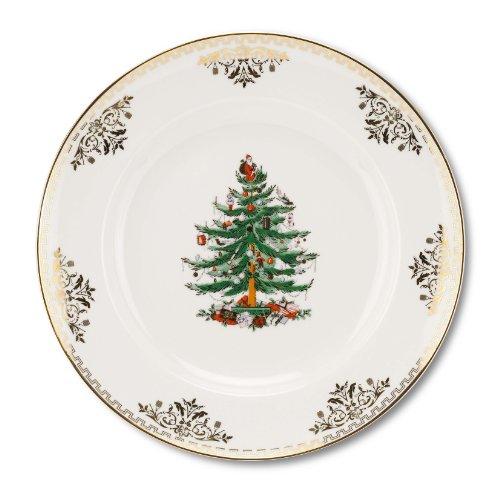 (Spode Christmas Tree Gold Salad Plate, Set of)